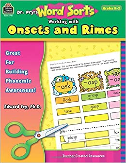 Book Dr. Fry's Word Sorts: Working with Onsets and Rimes