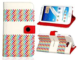 ISSEC Stylish Faux Leather Case for Samsung Note 2/ N7100 (White)