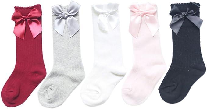 Baby BOW Tight Kids Stockings  Spanish Romany Pink White Ivory