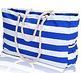KUAK XXL Beach Bag L22''xH15''xW6'' Shoulder Beach Tote Bags With 100% Waterproof Phone Case