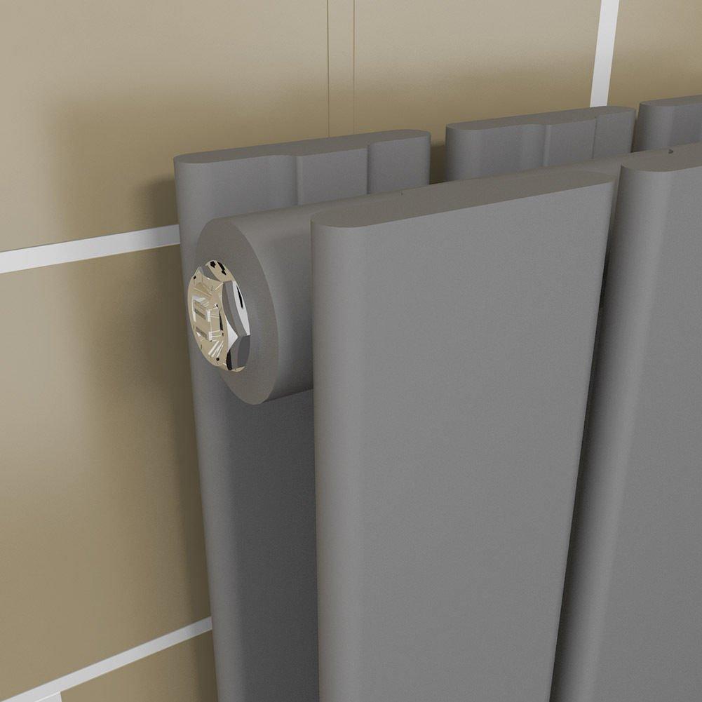 Badheizk/örper Design Flach Heizk/örper 1600x539mm Wei/ß Paneelheizk/örper Vertikal Mittelanschluss Einlagig