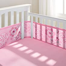 BreathableBaby Breathable Mesh Crib Liner- Pink Owl