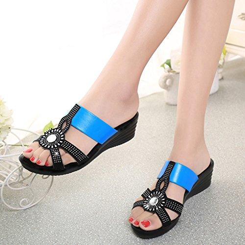 BOOWJESSSA - Zapatillas de estar por casa de Material Sintético para mujer blue,