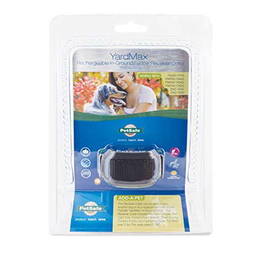 PetSafe YardMax Rechargeable In-Ground Fence for Dogs and Cats Over 5 lb, Up to 30% More Play Area,...