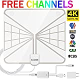 HDTV Antenna Indoor Digital TV Antenna, 60 Miles Rang HD Antenna with Detachable Amplifier Signal Booster and 13FT Coaxial Cable - Updated 2018 Version