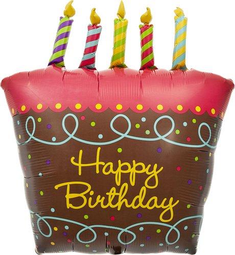 Birthday Cake Candles Helium Balloon product image
