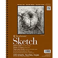 "Strathmore 455-4 400 Series Sketch Pad, 11""x14"" Wire Bound, 100 Sheets"