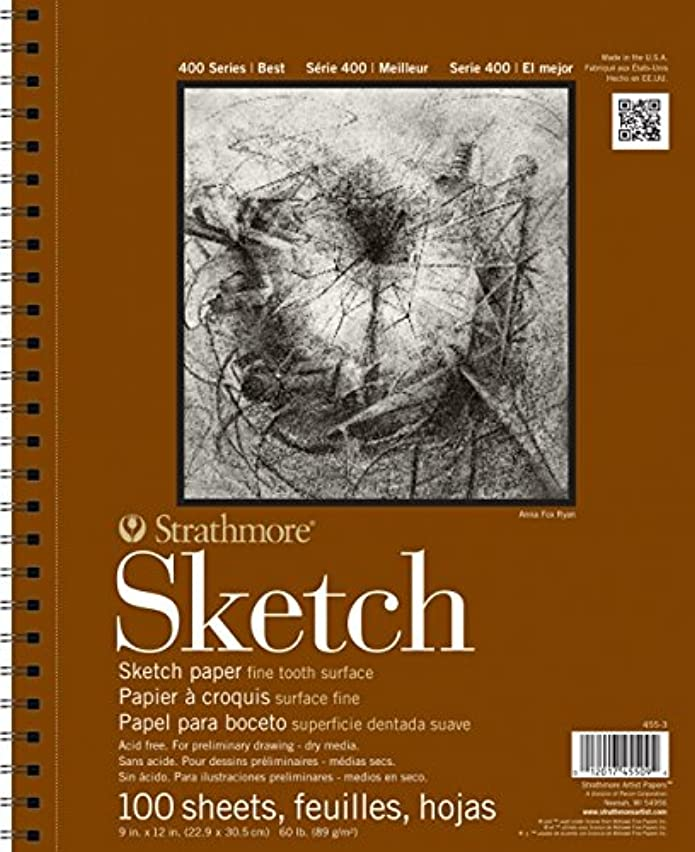 """Strathmore Sketch Paper Pad, 400 Series, 11"""" x 14"""",100 Sheets"""