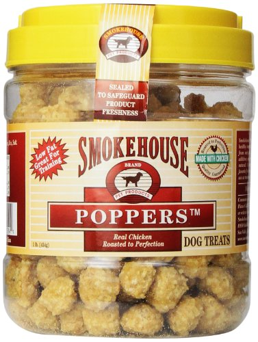 - Smokehouse 100-Percent Natural Chicken Poppers Dog Treats - 25094