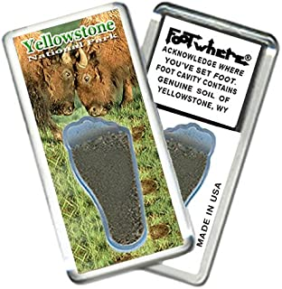 product image for Yellowstone, WY FootWhere Souvenir Fridge Magnet. Made in USA (YW203 - Bisons)