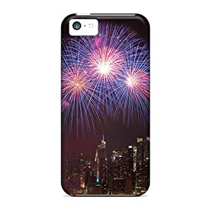 Iphone 5c Case Cover - Slim Fit Tpu Protector Shock Absorbent Case (happy Birthday Boom)
