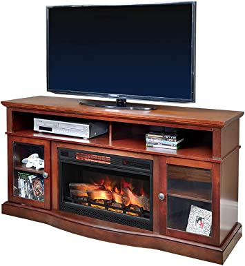 Amazon Com Chimneyfree Walker Cherry Electric Fireplace