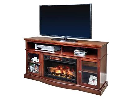Amazon Com Chimneyfree Walker Cherry Electric Fireplace
