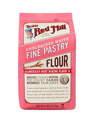 White Pastry - Bob's Red Mill Unbleached White Fine Pastry Flour, 5-pound