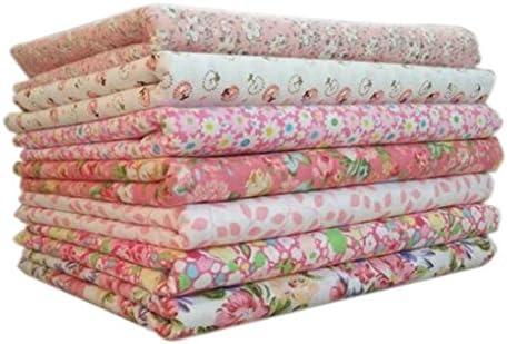 zerama 7pcs / Set la Tela de algodón para la, mezclaron la impresión Telas Florales para Patchwork álbum de Recortes de Tela de algodón (#2, 9.84 * 9.84(in)): Amazon.es: Amazon.es