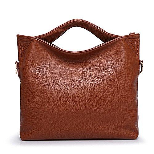 - Women Leather Shoulder Bag Messenger Bag Tote Large Capacity Handbags