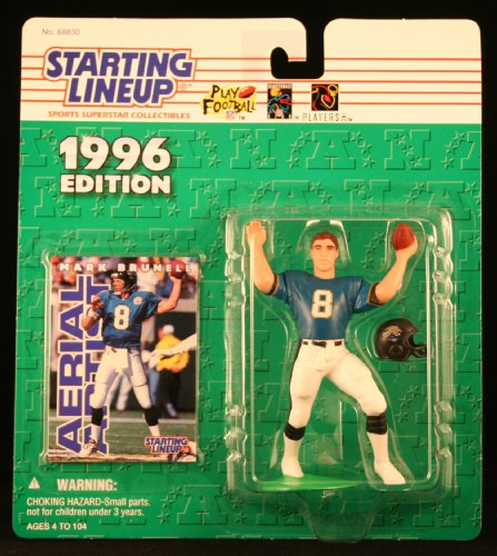 MARK BRUNELL / JACKSONVILLE JAGUARS 1996 NFL Starting Lineup Action Figure & Exclusive NFL Collector Trading Card (Line Trail Viking)