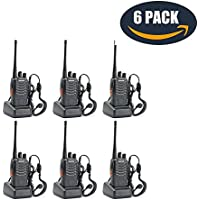 Galwad Walkie Talkies 16 Channels two way radios Rechargeable Li-ion Battery Long Range Built in LED Torch with Wall Charger(4PCS)