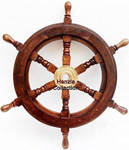 classical.gift.export Collectible Wooden Ship Wheel Pirate Captain Boat Steering Nautical Maritime18