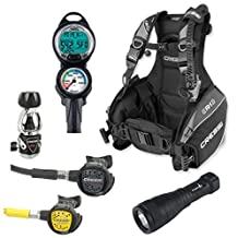 Cressi R1 BCD Scuba Diving Gear Package
