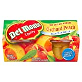 Del Monte Diced Peach in Water, 4 X 107ml, (Pack Of 6), 1 Count