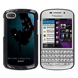 Portal de Apertura - Metal de aluminio y de plástico duro Caja del teléfono - Negro - BlackBerry Q10