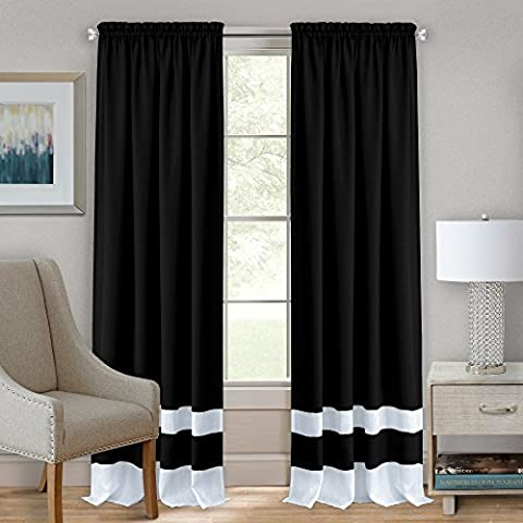 Achim Home Furnishings Darcy Rod Pocket Window Curtain Panel, 52