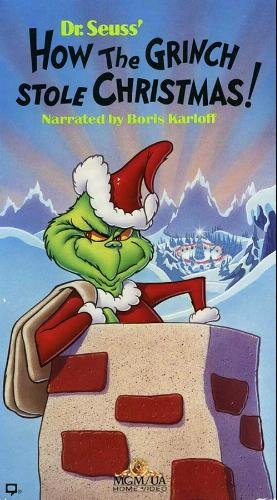 Dr. Seuss' How The Grinch Stole Christmas! (Animated, 1966, Narrated by Boris Karloff) [VHS Video]