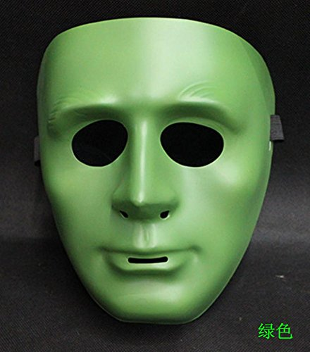 [Fashion Cosplay for Halloween Masquerade Carnival Party Prom Carnival Mask (Face Green)] (New Blood Jason Costume)