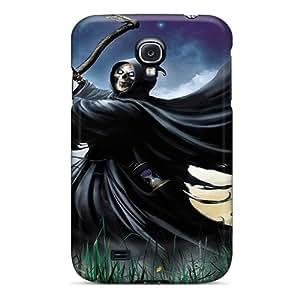 InesWeldon Samsung Galaxy S4 Durable Hard Phone Cases Custom Lifelike Grim Reaper Skin [JzS7581iTpB]