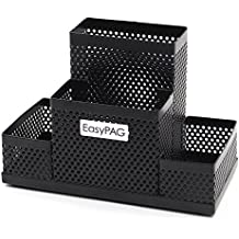 EasyPAG Mesh Desk Accessories Organizer Pen Holder, Black