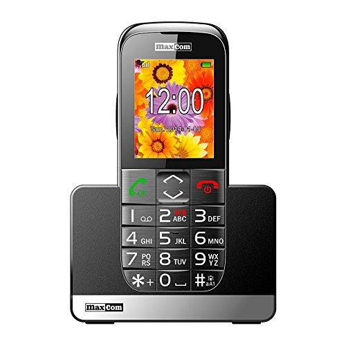 MaxCom MM720 2.2' 83g Negro Teléfono básico - Teléfono móvil (Barra, Tarjeta SIM Sencilla, 5.59 cm (2.2'), Bluetooth, 800...