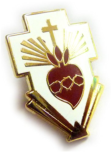 Sacred Heart of Jesus Christ Cross Catholic Christian Hat Jacket Tie Tack Lapel Pin