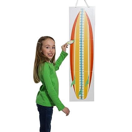 Babalu Gráfico de Gro de tabla de surf tabla de crecimiento con altura de muebles 12