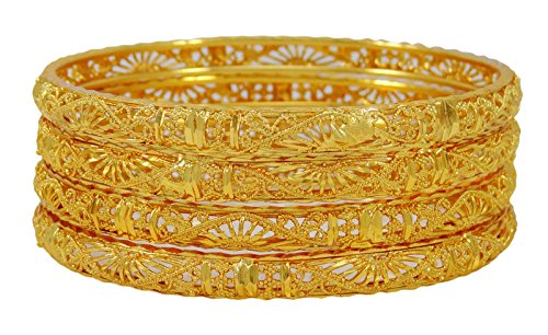 Banithani Ethnic Indian 18K Goldplated Bangle Set Traditional Bracelet Wedding Jewelry 26