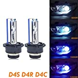 Xotic Tech D4S D4C D4R HID OEM Direct Replacement Headlight Xenon Beam Bulbs[12000K Purple]
