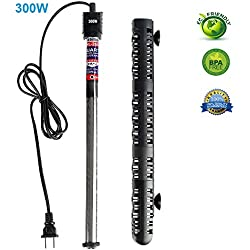 Soyon Aquarium Heater 300W, Fish Tank Heater with Adjustable Temperature 50 Gallon-80 Gallon Submersible Water Heater