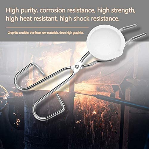 Lopbinte 6PCS Heat Resistant Smelting Gold Silver Furnace Kit Scrap Jewelry Metal Gold Melting Refining Forge Set Graphite Foundry Crucible for Melting Chemical Experiment