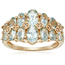 10k Diamond Accented Band Ring, Size 7