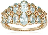 10k Gold Diamond-Accented Ring, Size 7