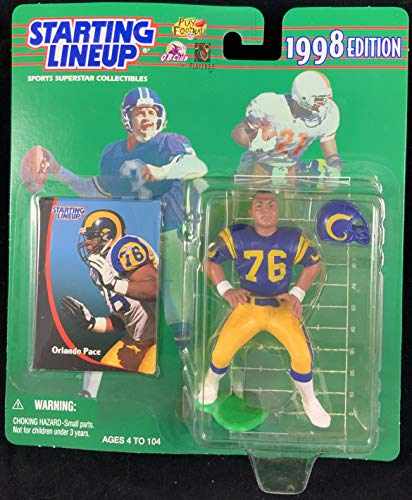 (1998 KENNER STARTING LINEUP NFL ORLANDO PACE ST LOUIS RAMS MOC)