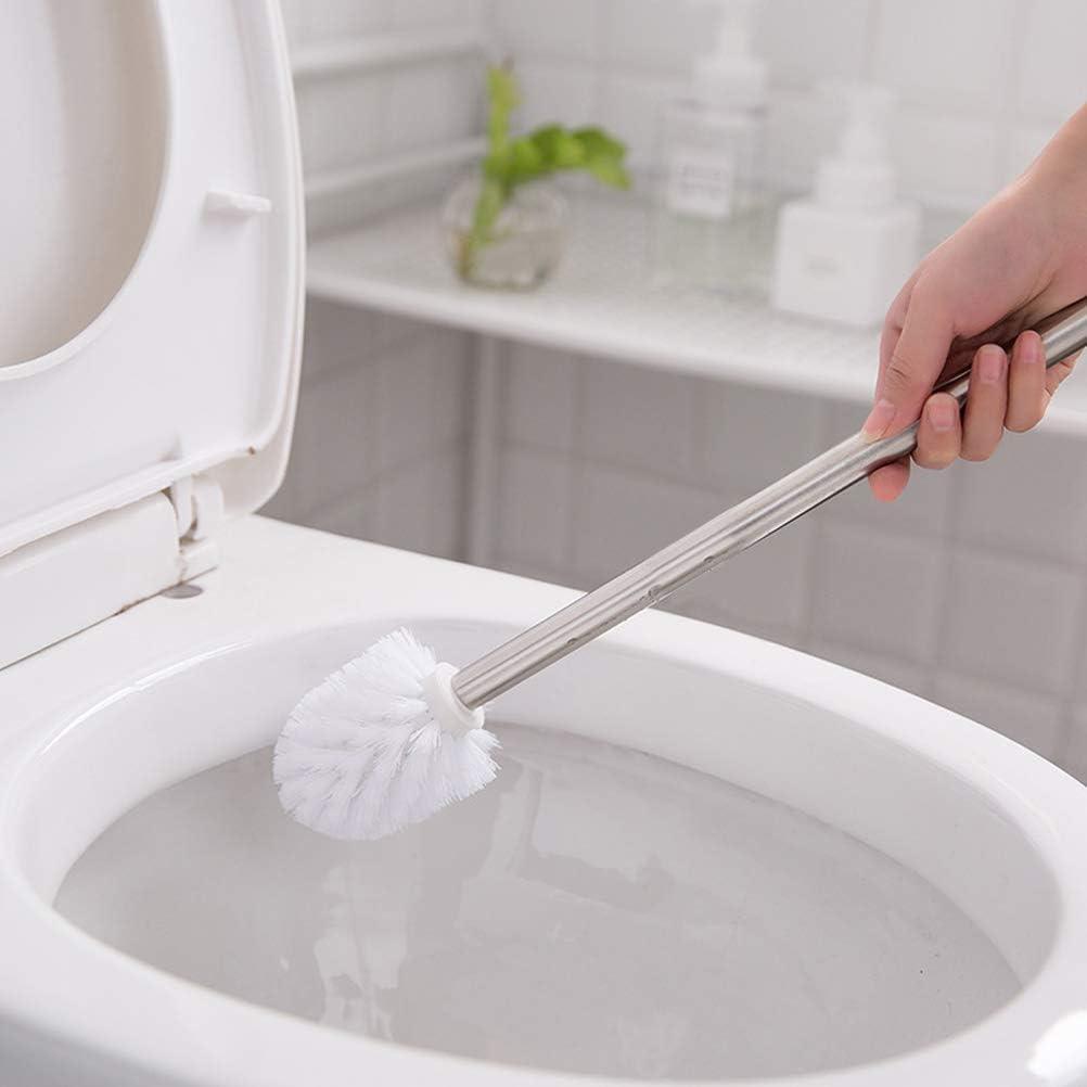 FOCUS Bagno di ricambio per scopino Set di 5 maniglie per scopino in acciaio inossidabile bianco