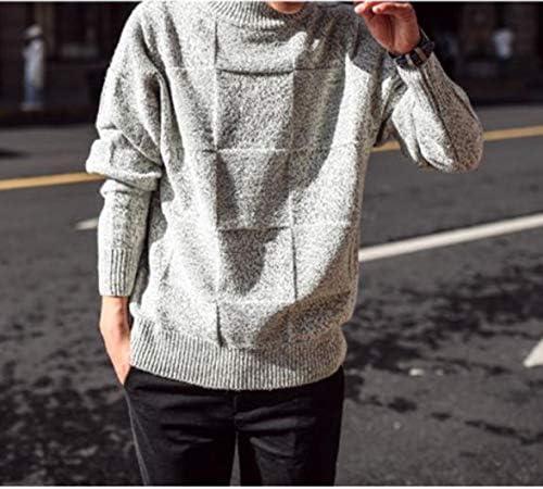チェック セーター 厚手 冬 あったか チェッカーフラッグ 柄 ハイネック メンズ