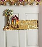 999Store sweet home hut main door hand crafted beautifully painted door hanging