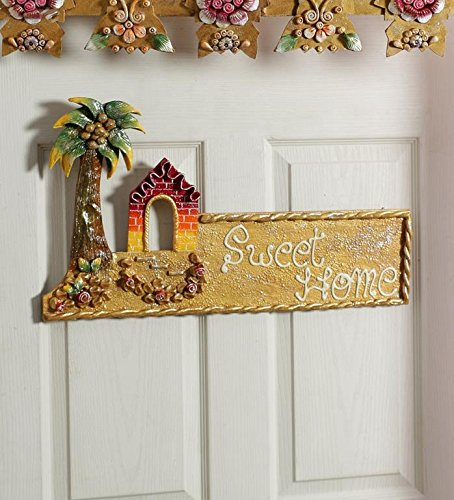 999store Sweet Home Hut Main Door Custom Name Plate Hand Crafted Beautifully Painted Door Hanging