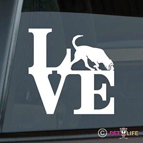 Mister Petlife Love Bloodhound Sticker Vinyl Auto Window park blood hound ()