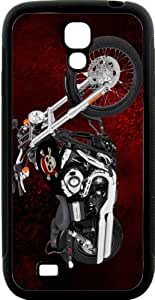 lintao diy Rikki KnightTM Harley Davidson Pirate Skull Design Samsung? Galaxy S4 Case Cover (Black Hard Rubber TPU with Bumper Protection) for Samsung Galaxy S4 i9500