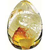 Caithness Glass Piece Crystal Blessings Paperweight, Gold
