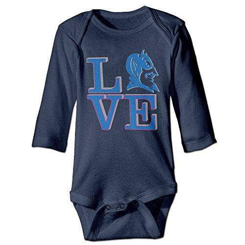 YTRY Duke University Babys Long Sleeve Bodysuit Onesie Navy Size 18 Months
