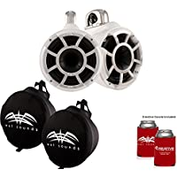 Wet Sounds REV 8 Swivel Clamp Tower Speakers with Wet Sounds Suitz speaker Covers - WHITE